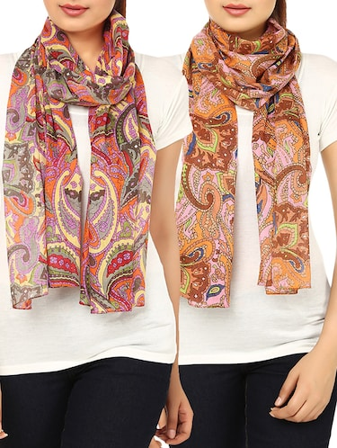 multi cotton scarf - 14547364 - Standard Image - 1