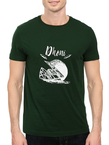 green cotton chest print tshirt - 14548083 - Standard Image - 1