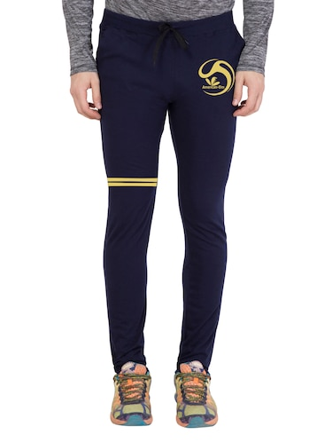 navy blue cotton  full length track pant - 14549602 - Standard Image - 1