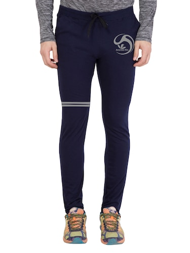 navy blue cotton  full length track pant - 14549604 - Standard Image - 1