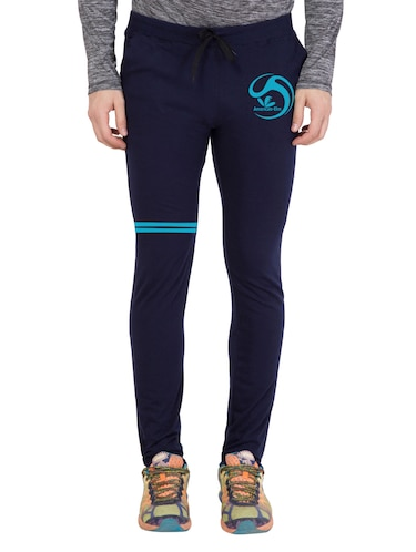 navy blue cotton  full length track pant - 14549606 - Standard Image - 1
