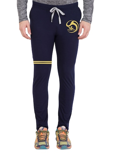 navy blue cotton  full length track pant - 14549625 - Standard Image - 1