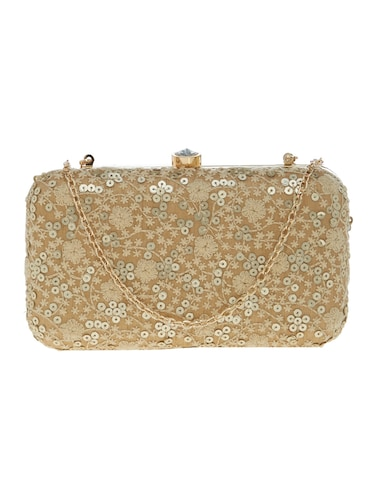gold silk clutch - 14553298 - Standard Image - 1