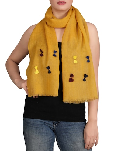 yellow wool scarf - 14553953 - Standard Image - 1
