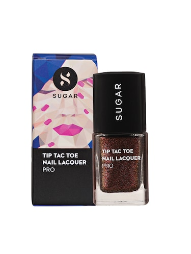 SUGAR Tip Tac Toe Nail Lacquer - 050 Bridal Brown (Brown With Glimmering Colours) - 14554115 - Standard Image - 1