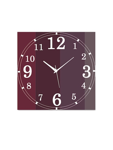 MDF Square Shape Analog Wall Clock - 14558909 - Standard Image - 1