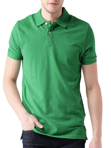green polyester polo t-shirt - 14559818 - Standard Image - 1