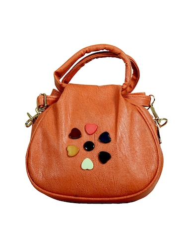 orange leatherette regular sling bag - 14559954 - Standard Image - 1