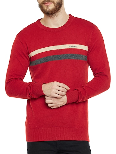 red wooll pullover - 14561628 - Standard Image - 1