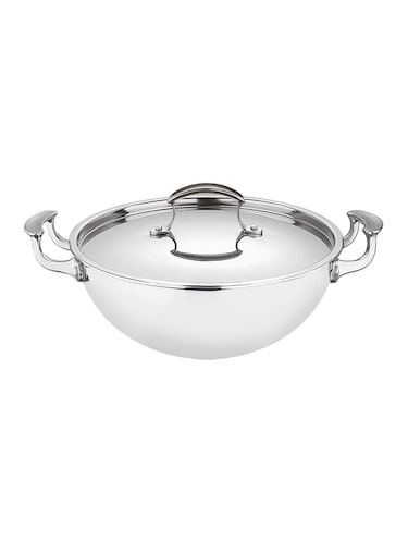 Buy Bergner Stainless Steel Wok With Lid 28cm By Bergner Online