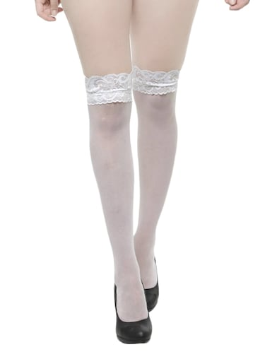 5505f1a03a4 Buy White Knee Length Stockings for Women from N-gal for ₹200 at 50 ...