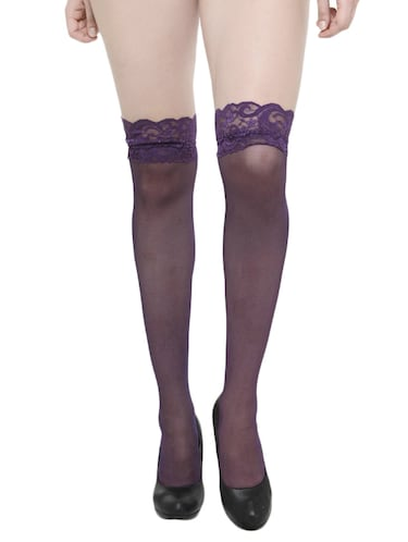 4aa7f8b32 purple knee length stockings - 14626110 - Standard Image - 1 ...