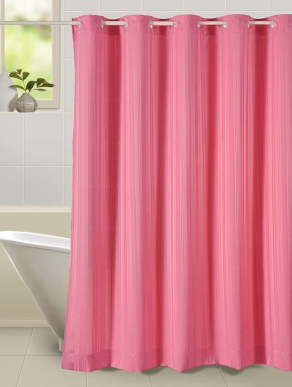 Thick Striped Prism Water Repellent Plain Shower Curtain