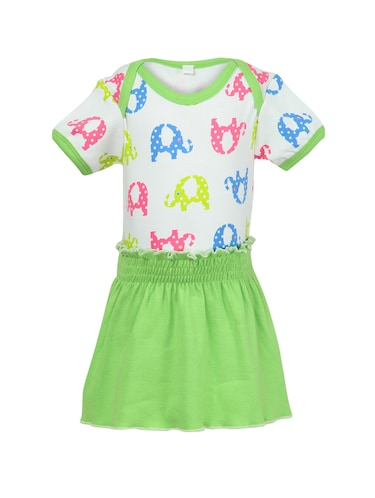 green cotton frock - 14720731 - Standard Image - 1