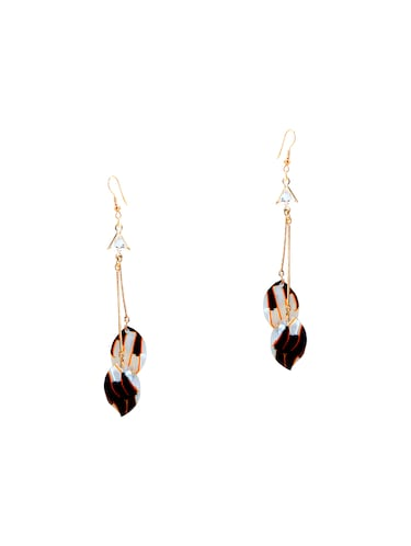 black metal drop earrings - 14737314 - Standard Image - 1