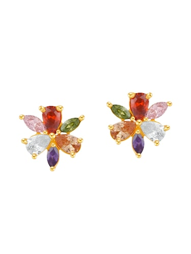 multi color metal studs earrings - 14742486 - Standard Image - 1