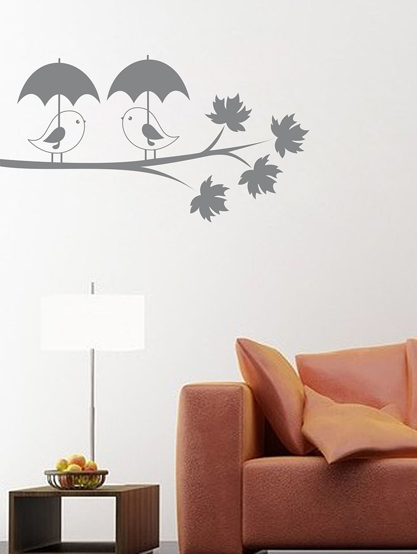 Buy Bird With Umbrella Wall Decal By Creatick D Online