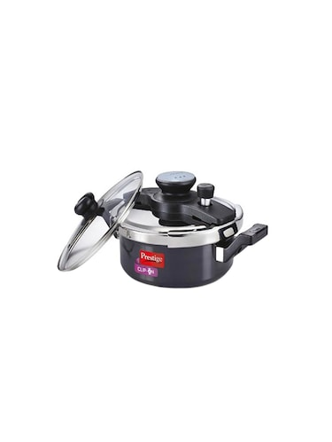 5f1a2fcb77b 3 ltrs Aluminium Clip on hard anodized pressure cooker Universal Lid along  and glass lid with ladle holder