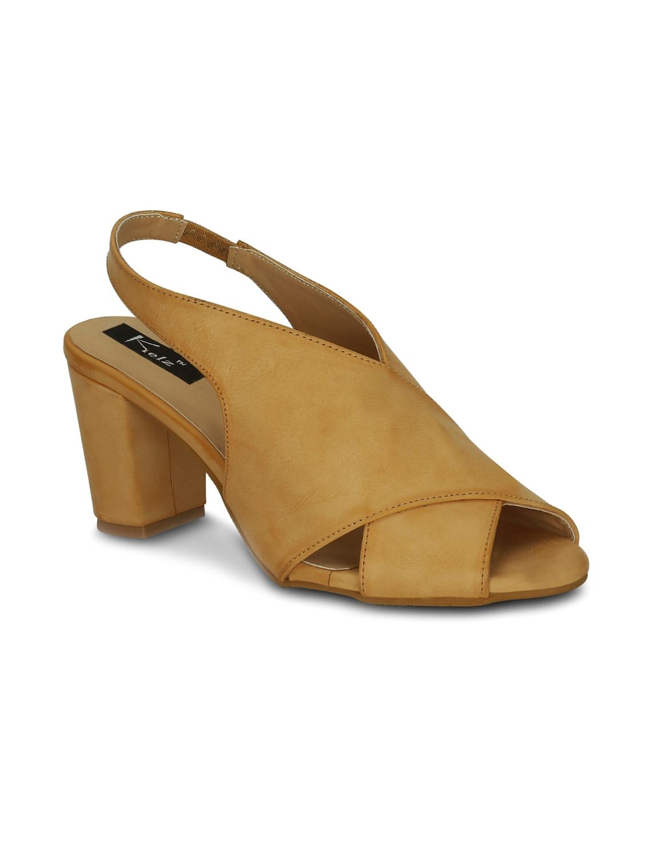 07a92b19de50a9 Buy Beige Faux Leather Back Strap Sandals by Kielz - Online shopping ...