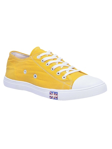 yellow Canvas lace up sneaker - 14769419 - Standard Image - 1