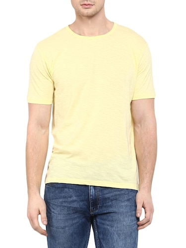 yellow cotton t-shirt - 14774628 - Standard Image - 1