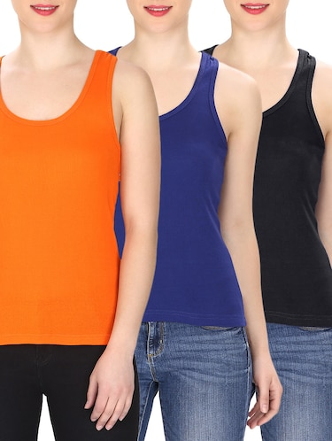 set of 3 multi colored tank tee - 14774783 - Standard Image - 1