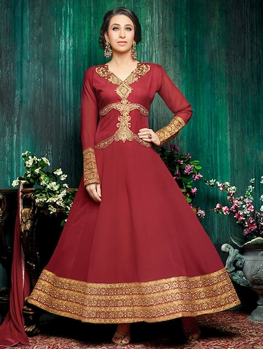 Embroidered unstitched suit - 14782889 - Standard Image - 1
