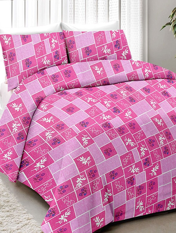 Buy Cotton Printed Single Bed Sheet With 2 Pillow Covers By Minu Bedsheets    Online Shopping For Bed Sheet Sets In India | 14810550