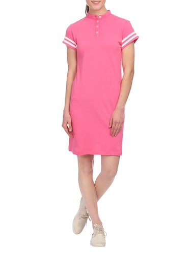 pink cotton shift dress - 14815838 - Standard Image - 1