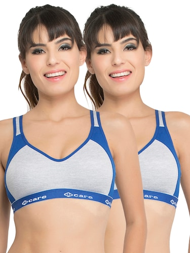 Set of 2 multi colored sports bras - 14846267 - Standard Image - 1