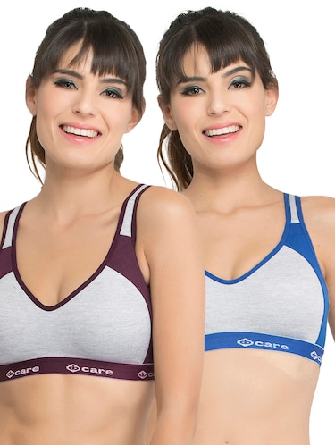 Set of 2 multi colored sports bras - 14846271 - Standard Image - 1