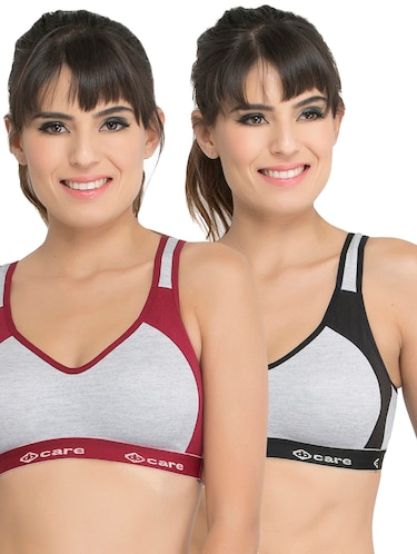 Set of 2 multi colored sports bras - 14846272 - Standard Image - 1