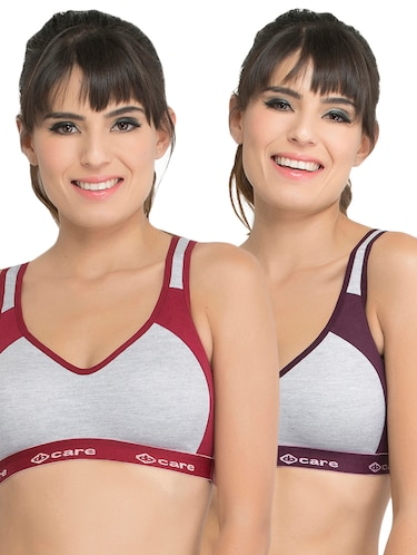 Set of 2 multi colored sports bras - 14846277 - Standard Image - 1
