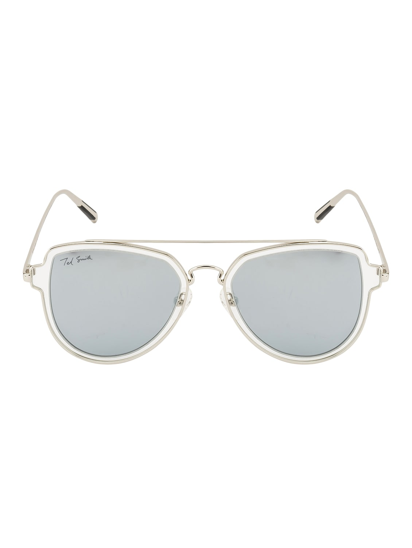 67947f2a78 ... Ted Smith Unisex Aviator Silver Polarized Sunglasses - 14853388 - Zoom  Image - 1