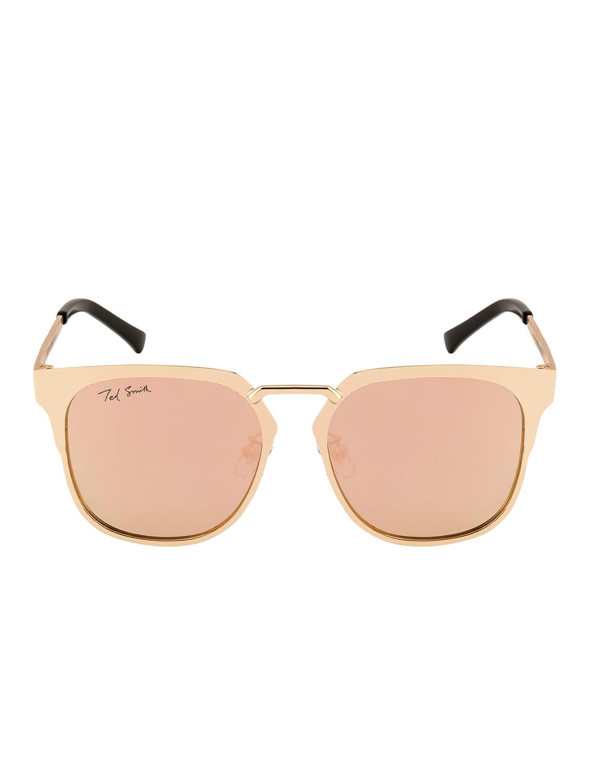 9a1b227dd0 ... Ted Smith Unisex Wayfarer Gold Polarized Sunglasses - 14853420 - Zoom  Image - 1