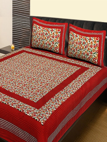 Cotton Traditional Double Bedsheet With 2 Pillow Covers For Uni From Kariba 629 At 55 Off 2019 Limeroad