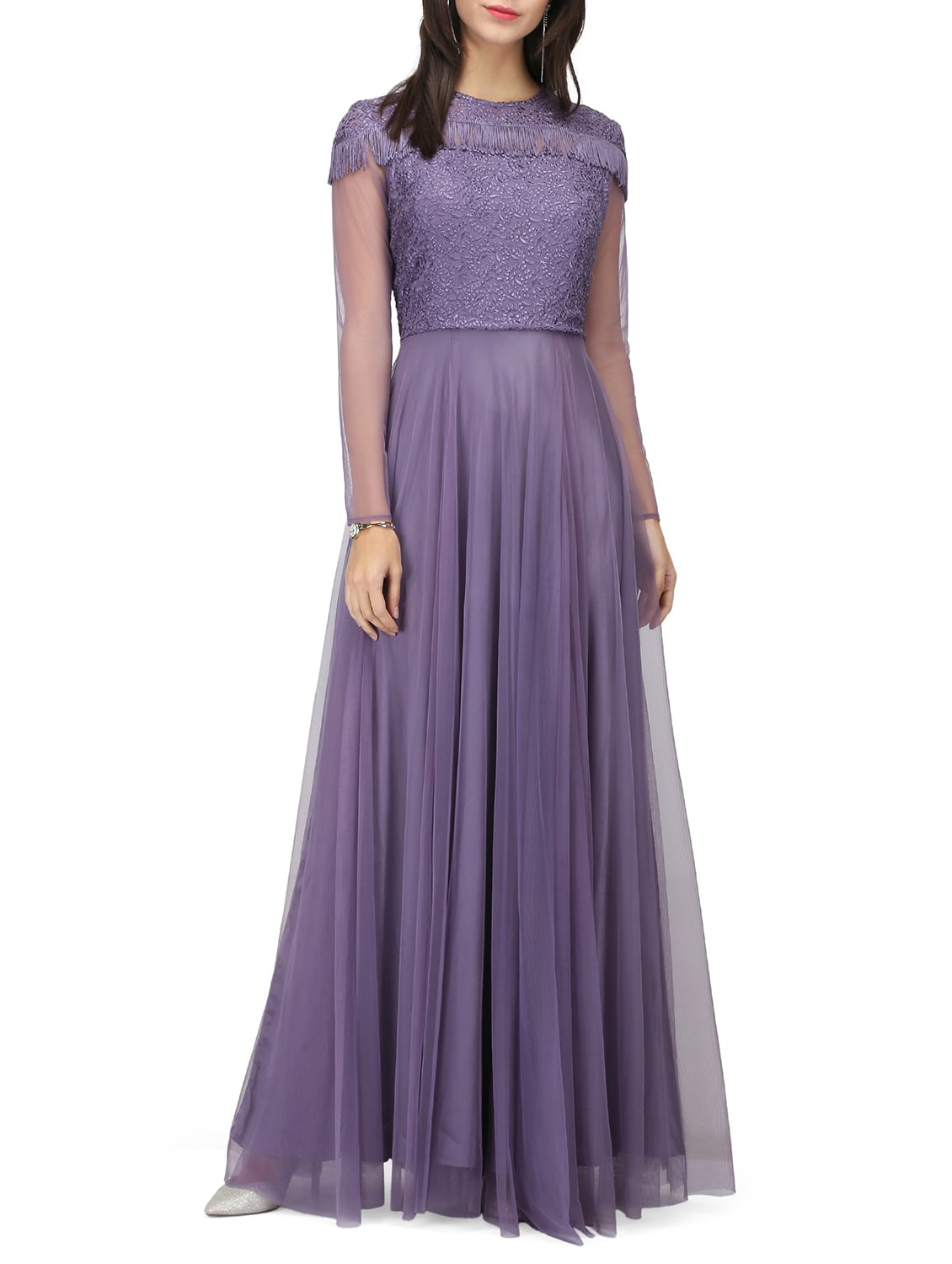 Buy Purple Gown Dress by Eavan - Online shopping for Dresses in ...
