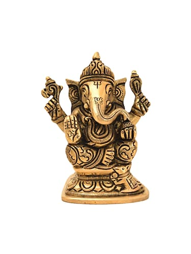 Brass Statue Of Ganesha Handicrafts Product - 14866298 - Standard Image - 1