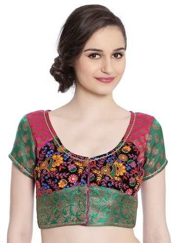 Green embroidered blouse - 14868475 - Standard Image - 1