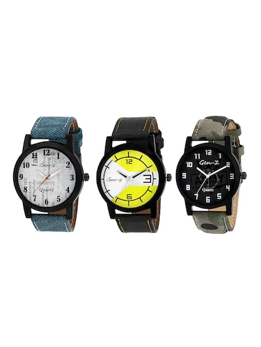 Gen-Z combo of 3 Social yellow army watches - 14871534 - Standard Image - 1