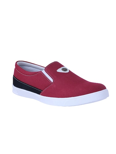 red Canvas casual slipon - 14875963 - Standard Image - 1
