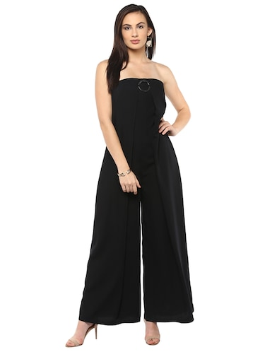 black full leg jumpsuit - 14876096 - Standard Image - 1