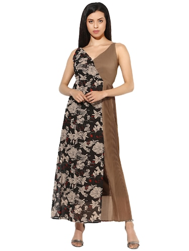 42e88d3caef932 Buy Brown Maxi Dress by Leo Sansini - Online shopping for Dresses in ...