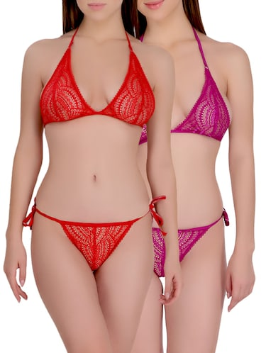 set of 2 multi colored lace bikini - 14881695 - Standard Image - 1
