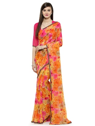 multi georgette printed saree with blouse - 14884169 - Standard Image - 1