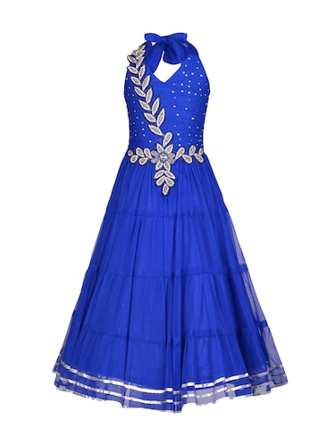 blue net party gown - 14885035 - Standard Image - 1
