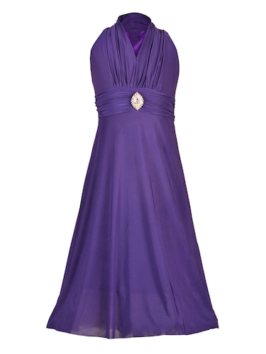 purple net party gown - 14885067 - Standard Image - 1