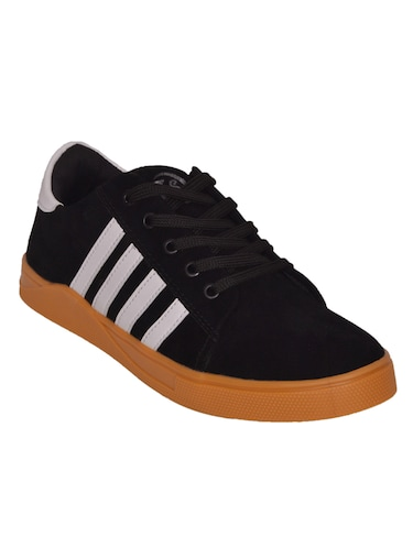 black Suede lace up sneaker - 14885085 - Standard Image - 1