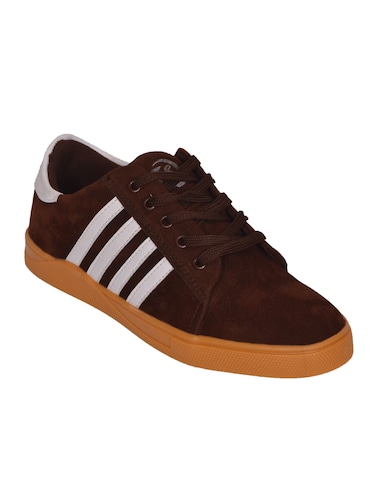 brown Suede lace up sneaker - 14885086 - Standard Image - 1