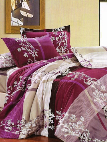 3D PolyCotton Double Bed Sheet with 2 Pillow Covers - 14886702 - Standard Image - 1